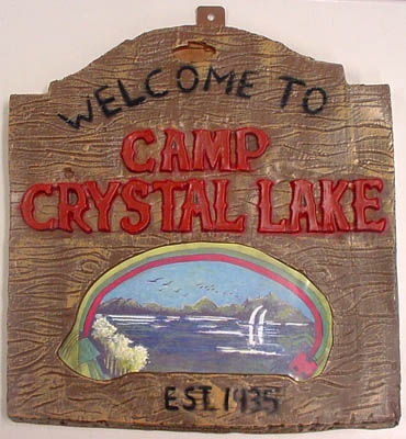 RUBIE'S製 FRIDAY THE 13TH CRYSTAL LAKE STREET SIGN