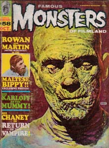FAMOUS MONSTERS OF FILMLAND #58