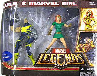 HASBRO MARVEL LEGENDS USA WAL MART限定 2PACK CABLE & MARVEL GIRL