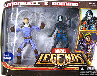 HASBRO MARVEL LEGENDS USA WAL MART限定 2PACK CANNONBALL & DOMINO