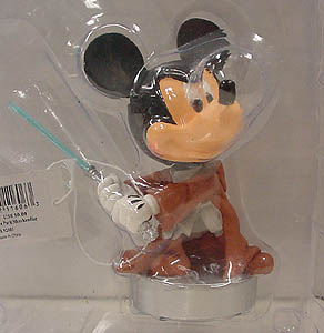 STAR WARS USA ディズニーテーマパーク限定 レジン製 BOBBLE HEAD MICKEY MOUSE AS JEDI