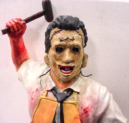 THE TEXAS CHAINSAW MASSACRE LEATHERFACE レジンキット 未組み立てキット (キットは未塗装です。)
