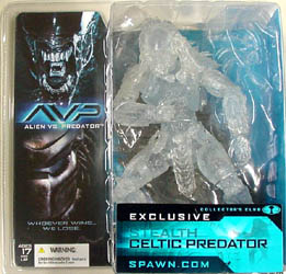 McFARLANE ALIEN VS PREDATOR SERIES 1 コレクターズクラブ限定 STEALTH CELTIC PREDATOR ブリスターヤケ特価