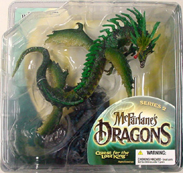 McFARLANE McFARLANE'S DRAGONS SERIES 2 WATER CLAN DRAGON ブリスターワレ&ヤケ特価