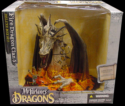 McFARLANE McFARLANE'S DRAGONS SERIES 5 DX BOX FIRE DRAGON CLAN 5
