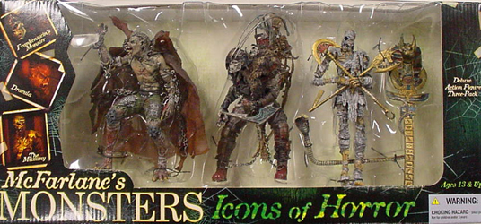 MvFARLANE McFARLANE'S MONSTERS ICONS OF HORROR BOXセット