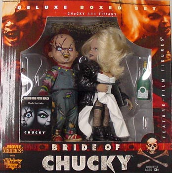 McFARLANE MOVIE MANIACS 2 DX BOX CHILD'S PLAY BRIDE OF CHUCKY CHUCKY & TIFFANY