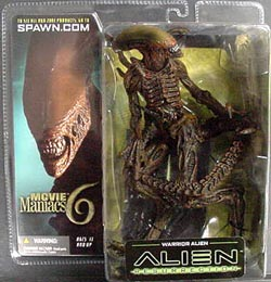 McFARLANE MOVIE MANIACS 6 WARRIOR ALIEN ブリスターヤケ特価