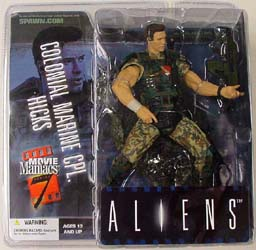 McFARLANE MOVIE MANIACS 7 ALIENS HICKS