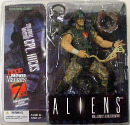 McFARLANE MOVIE MANIACS 7 コレクターズクラブ限定 ALIENS HICKS