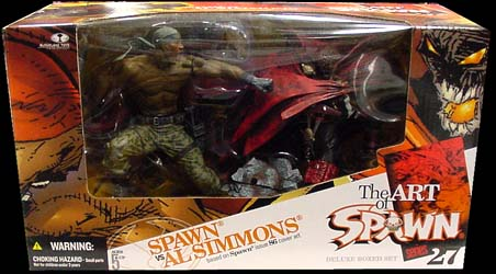McFARLANE SPAWN 27 DX BOX SPAWN VS AL SIMMONS
