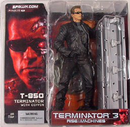 McFARLANE TERMINATOR 3 T-850 WITH COFFIN サングラスあり