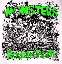 ASTRO ZOMBIES / MONSTERS ROCKIN' PARTY /ラグランTシャツ(グリーン)ILLUST BY HIRO★GRIM