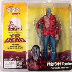 NECA CULT CLASSICS SERIES 4 DAWN OF THE DEAD PLAID SHIRT ZOMBIE ブリスターヤケ&ワレ特価