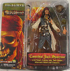 コミコン限定 NECA PIRATES OF THE CARIBBEAN DEAD MAN'S CHEST CANNIBAL JACK SPARROW