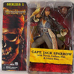 NECA PIRATES OF THE CARIBBEAN AT WORLD'S END CAPT. JACK SPARROW パッケージ傷み特価