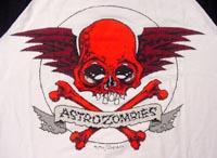 ASTRO ZOMBIES / SKULL WING RAGLAN /3/4 SLEEVE T-SHIRTS