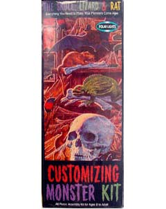 POLAR LIGHTS CUSTOMIZING MONSTER KIT SKULL & LIZARD & RAT