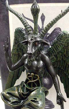 BAPHOMET 悪魔像 コールドキャスト スタチュー [MEDIUM]