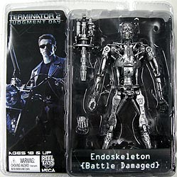 NECA TERMINATOR 2 7インチアクションフィギュア SERIES 2 ENDOSKELETON [BATTLE DAMAGED]