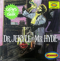 MOEBIUS MODELS DR.JEKYLL AS MR.HYDE GLOWS IN THE DARK 組み立て式プラモデル