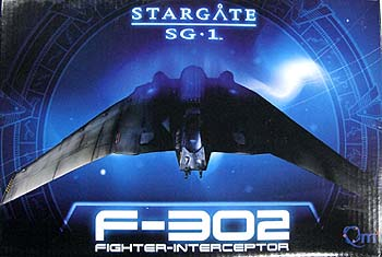 QUANTUM MECHANIX STARGATE SG-1 F-302 FIGHTER-INTERCEPTOR 本体:約19.5x11センチ
