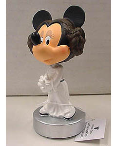 STAR WARS USA ディズニーテーマパーク限定 レジン製 BOBBLE HEAD MINNIE MOUSE AS PRINCESS LEIA