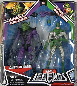 HASBRO MARVEL LEGENDS 2PACK SKRULL SOLDIER & KREE SOLDIER