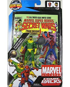 HASBRO MARVEL UNIVERSE COMIC PACKS SECRET WARS SPIDER-MAN & THUNDERBALL