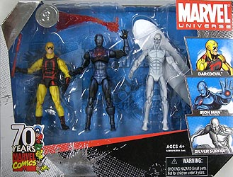 HASBRO MARVEL UNIVERSE 3PACK 70th ANNIVERSARY パッケージ破れ特価