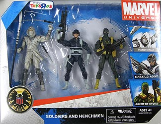 HASBRO MARVEL UNIVERSE 3PACK SOLDIERS AND HENCHMEN