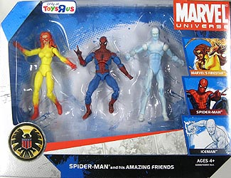 HASBRO MARVEL UNIVERSE 3PACK SPIDER-MAN AND HIS AMAZING FRIENDS