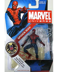 HASBRO MARVEL UNIVERSE SERIES 1 #002 SPIDER-MAN [DARK BLUE & RED]