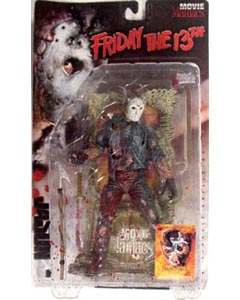 McFARLANE MOVIE MANIACS 1 FRIDAY THE 13th JASON [血飛沫パッケージ]
