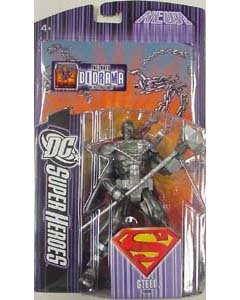 MATTEL DC SUPER HEROES SELECT SCULPT SERIES STEEL [メッキエンブレム]