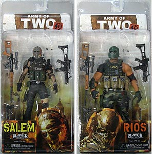NECA PLAYER SELECT ARMY OF TWO THE 40TH DAY SALEM & RIOS 2種セット