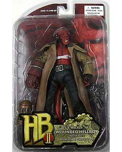 MEZCO 映画版HELLBOY 2 アクションフィギュア SERIES 2 WOUNDED HELLBOY INCLUDES BIRDCAGE & SAMARITAN