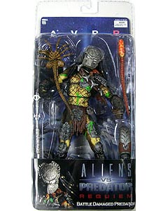 NECA ALIEN VS PREDATOR REQUIEM SERIES 4 BATTLE DAMAGED PREDATOR MASKED