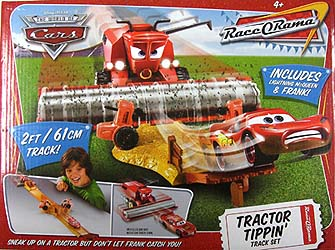 THE WORLD OF CARS RACE O RAMA TRACTOR TIPPIN' TRACK SET