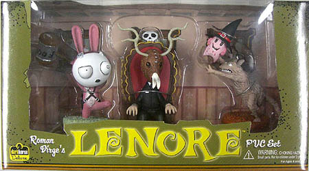 DARK HORSE LENORE PVCフィギュアセット LENORE & TOXIDERMY & SPAM WITCH