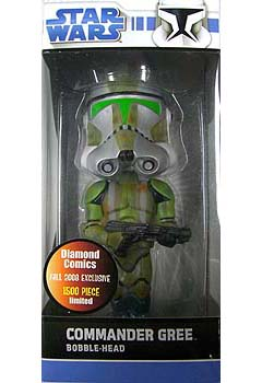 DIAMOND COMICS FALL 2008 EXCLUSIVE FUNKO WACKY WOBBLER COMMANDER GREE