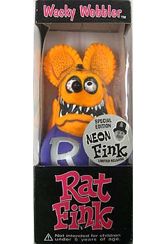 FUNKO WACKY WOBBLER RAT FINK NEON FINK(ORANGE)