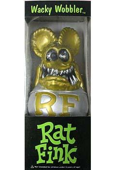 FUNKO WACKY WOBBLER RAT FINK GOLD FINK