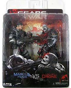 NECA GEARS OF WAR 2PACK MARCUS FENIX VS LOCUST DRONE