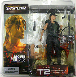 McFARLANE MOVIE MANIACS 5 TERMINATOR 2 SARAH CONNOR 帽子被り 国内版