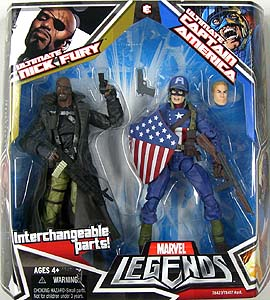 HASBRO MARVEL LEGENDS 2PACK ULTIMATE NICK FURY & ULTIMATE CAPTAIN AMERICA