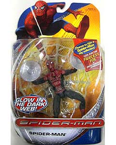 HASBRO SPIDER-MAN TRILOGY SERIES SPIDER-MAN GLOW IN THE DARK WEB !