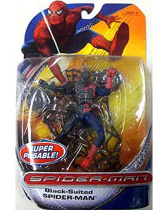 HASBRO SPIDER-MAN TRILOGY SERIES BLACK-SUITED SPIDER-MAN SUPER POSABLE !