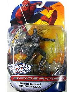 HASBRO SPIDER-MAN TRILOGY SERIES BLACK-SUITED SPIDER-MAN SANDMAN BATTLING ACTION !