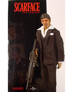 SIDESHOW トーキング 12インチ SCARFACE FINAL BATTLE TONY MONTANA